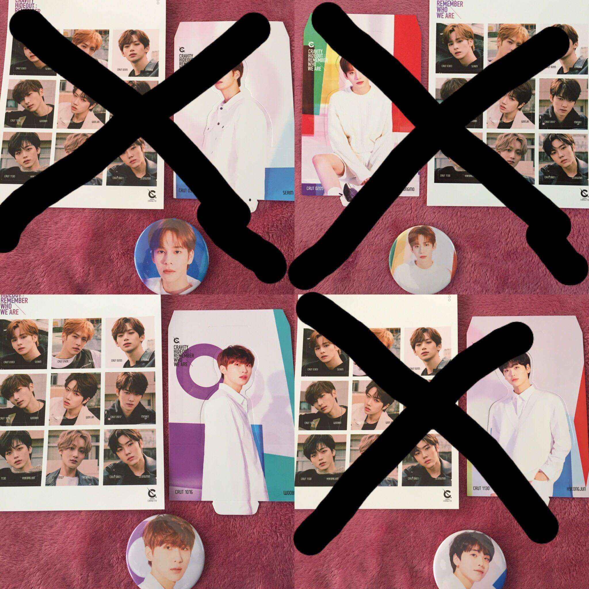 Cravity Standee and Sticker Serim Woobin Wonjin Minhee Hyeongjun