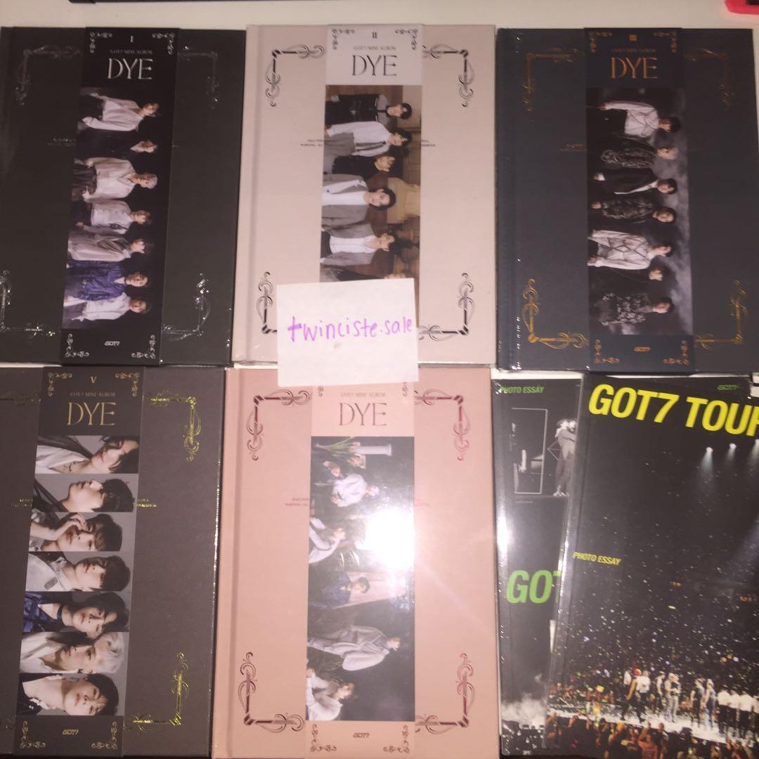 (FAST PRE ORDER) GOT7 DYE ALBUM WITH PRE ORDER BENEFIT AND POSTER