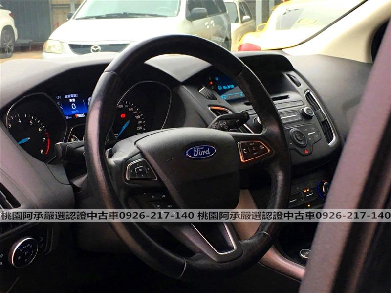 【FB搜尋桃園阿承】福特 超人氣FOCUS 2018年 1.5CC 黑色 二手車 中古車