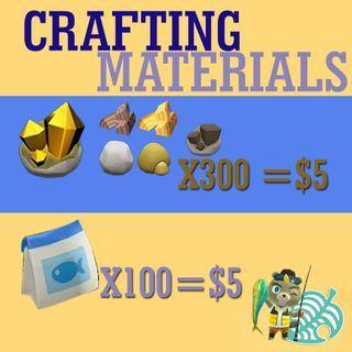 Animal crossing materials