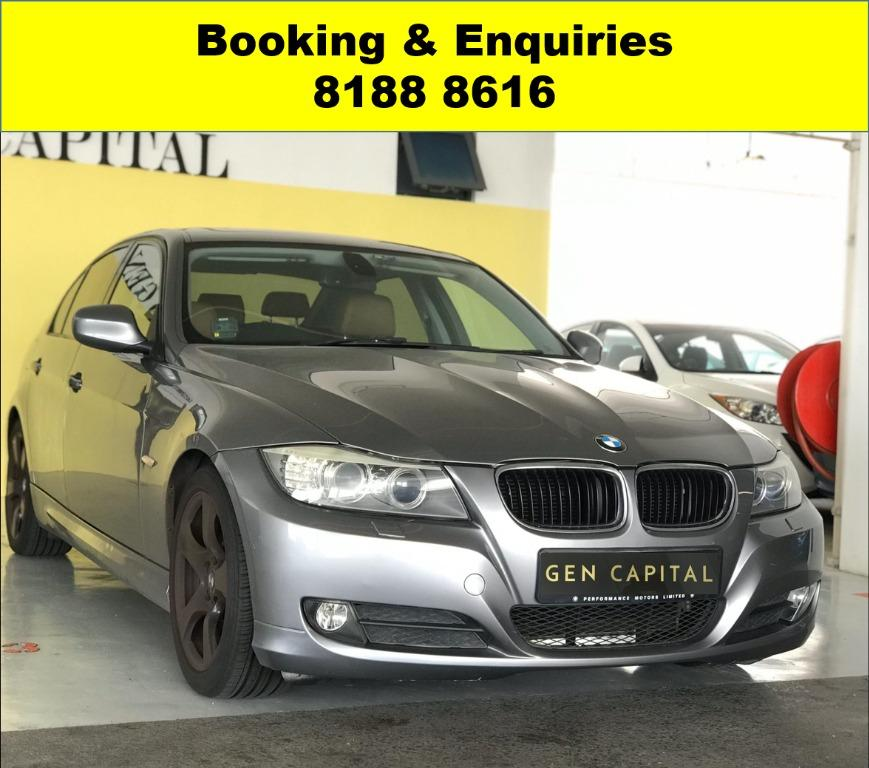 BMW320i ADVANCE BOOKING ONLY! CIRCUIT BREAKER PROMO!! THE CHEAPEST RENTAL WITH 50% OFF DURING CIRCUIT BREAKER, just $500 deposit driveaway. ADVANCE BOOKING ONLY! Whatsapp 8188 8616 now to enjoy special rates!!