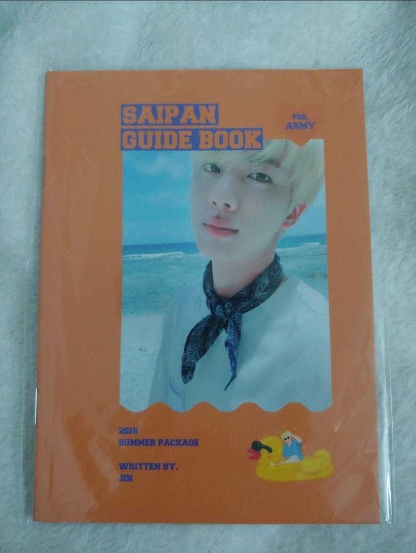 BTS OFFICIAL JIN SUMMER PACKAGE SAIPAN SELFIE BOOK