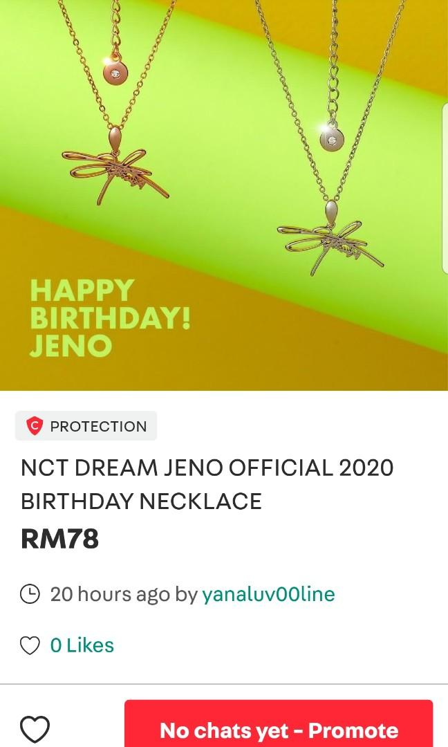 [EXTRA 2 PCS]  NCT DREAM JENO OFFICIAL BIRTHDAY NECKLACE