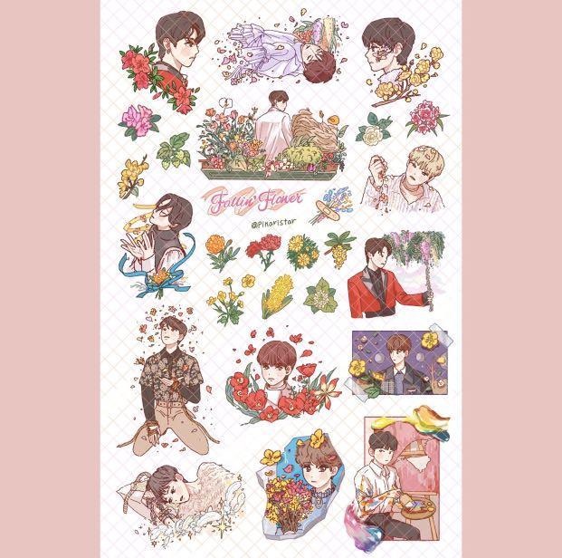GO   pickaristar_shop SEVENTEEN FALLIN FLOWER STICKER SET
