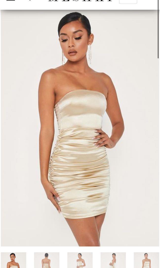 Gold Meshki Dress