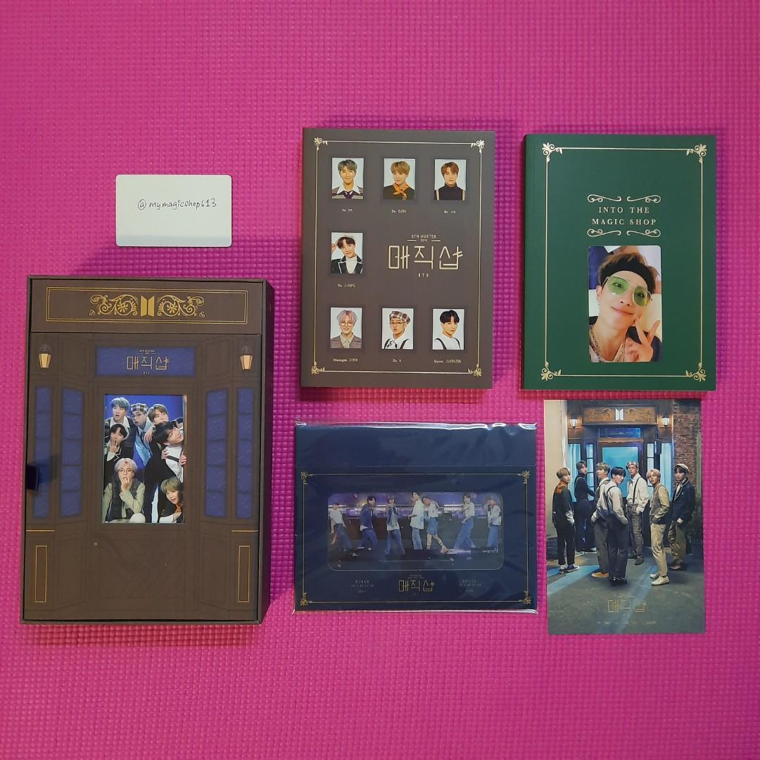 <LAST ITEM> BTS 5TH MUSTER [MAGIC SHOP] DVD FULL SET WITH RM PC / JIMIN PC