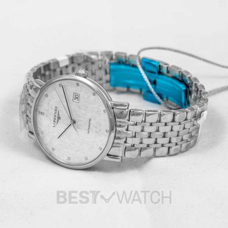 [NEW] Longines The Longines Elegant Collection Automatic Silver Dial Diamond Hour Marker Men's Watch L49104776