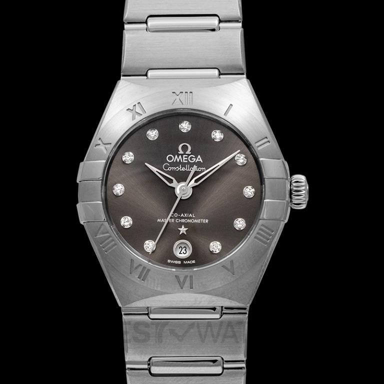 [NEW] Omega Constellation Manhattan Co-Axial Master Chronometer 29mm Automatic Grey Dial Diamonds Ladies Watch 131.10.29.20.56.001