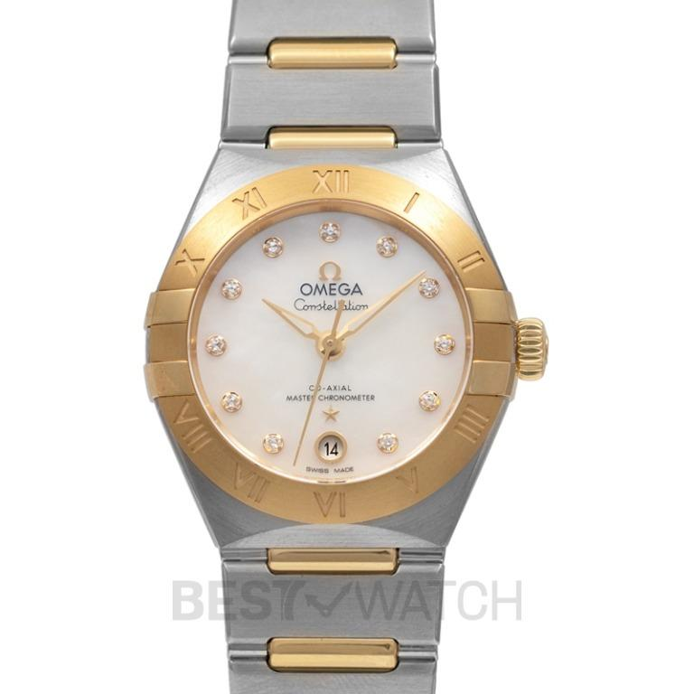 [NEW] Omega Constellation Manhattan Co-Axial Master Chronometer 29mm Automatic White Dial Diamonds Yellow Gold Ladies Watch 131.20.29.20.55.002