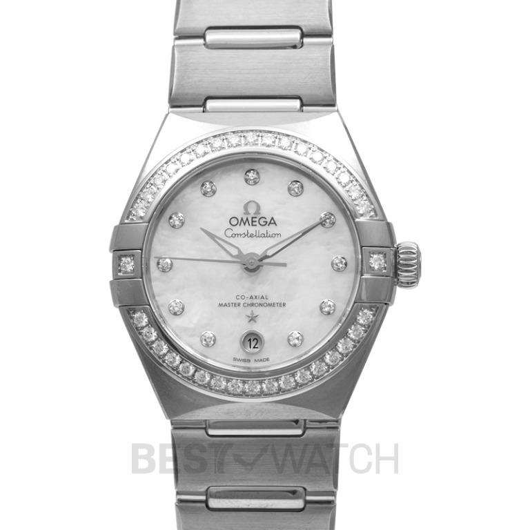[NEW] Omega Constellation Manhattan Co-Axial Master Chronometer 29 mm Automatic White Dial Diamonds Ladies Watch 131.15.29.20.55.001