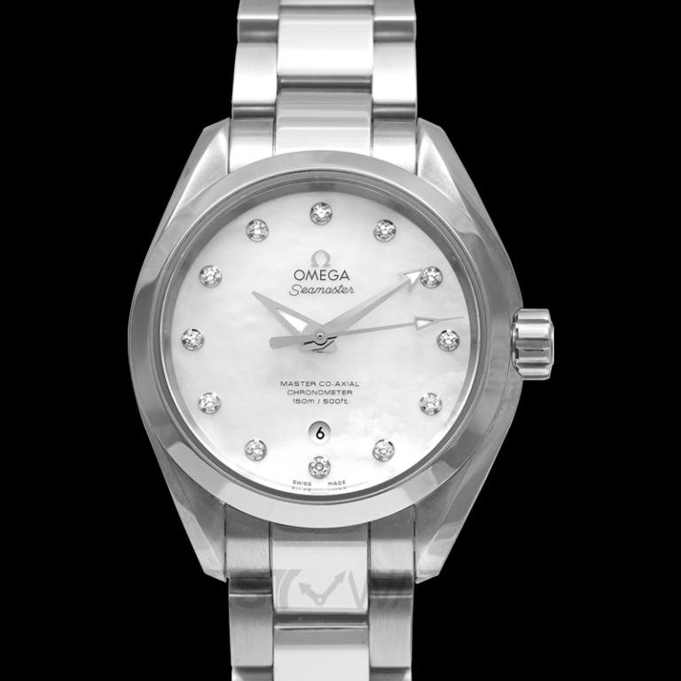 [NEW] Omega Seamaster Aqua Terra 150M Master Co-Axial 34 mm Automatic White Dial Diamonds Ladies Watch 231.10.34.20.55.002