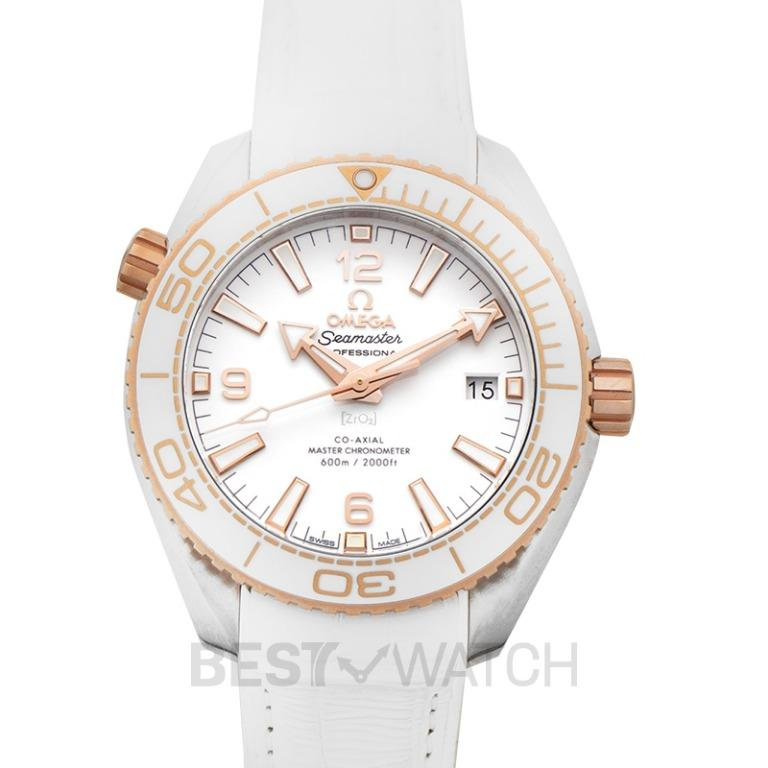 [NEW] Omega Seamaster Planet Ocean 600M Co-Axial Master Chronometer 39.5mm Automatic White Dial Gold Men's Watch 215.23.40.20.04.001
