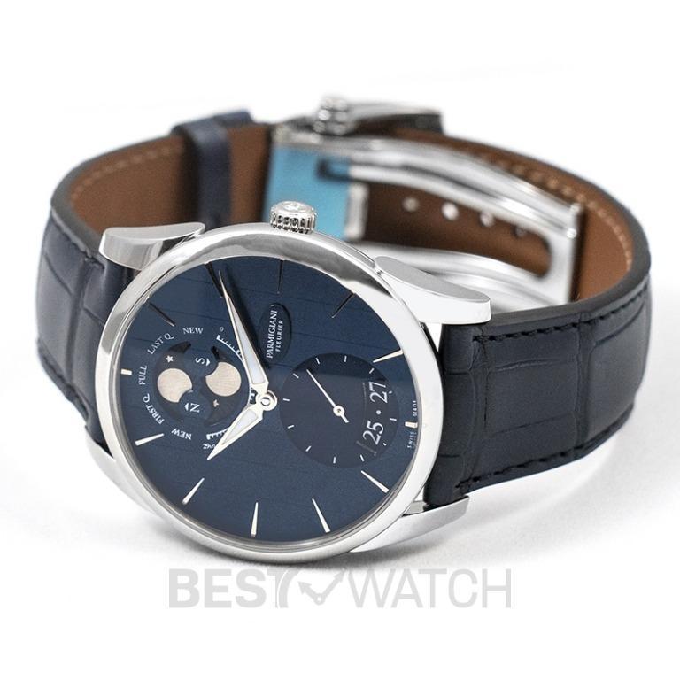 [NEW] Parmigiani Fleurier Tonda 1950 Lune Automatic Blue Dial 39mm Stainless steel Men's Watch PFC284-0000600-XA3242