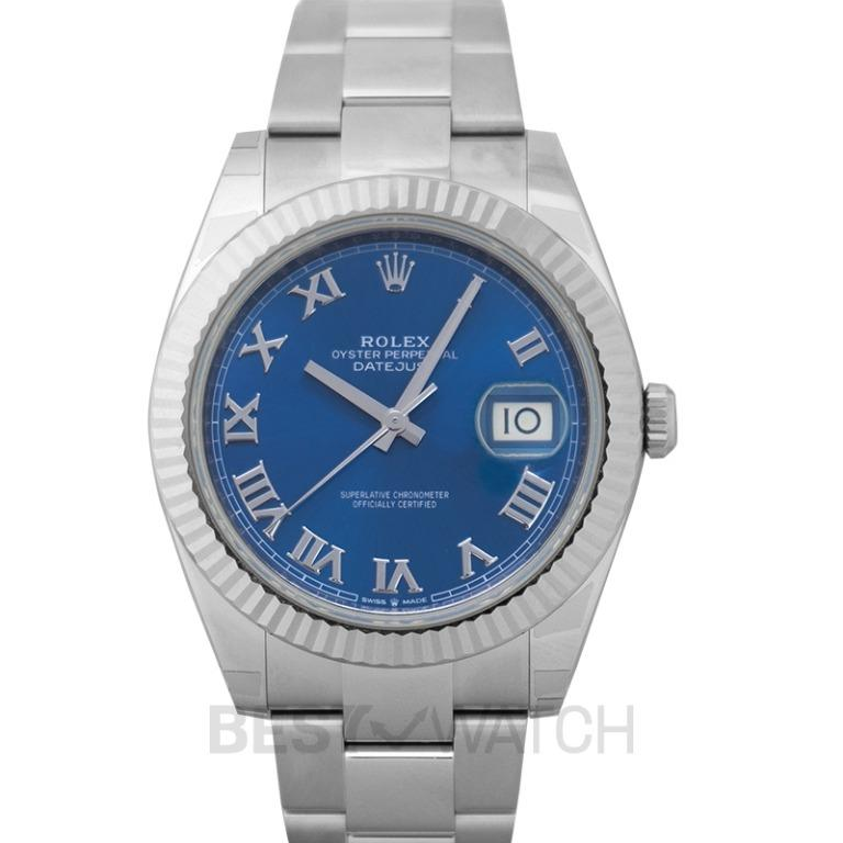 [NEW] Rolex Datejust 41 Steel And 18ct White Gold Automatic Blue Dial Oystersteel and 18 ct White Gold Men's Watch 126334-0025