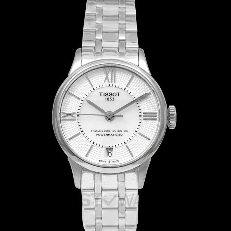 [NEW] Tissot T-Classic Chemin Des Tourelles Powermatic 80 Lady Automatic Mother Of Pearl Dial Ladies Watch T099.207.11.118.00