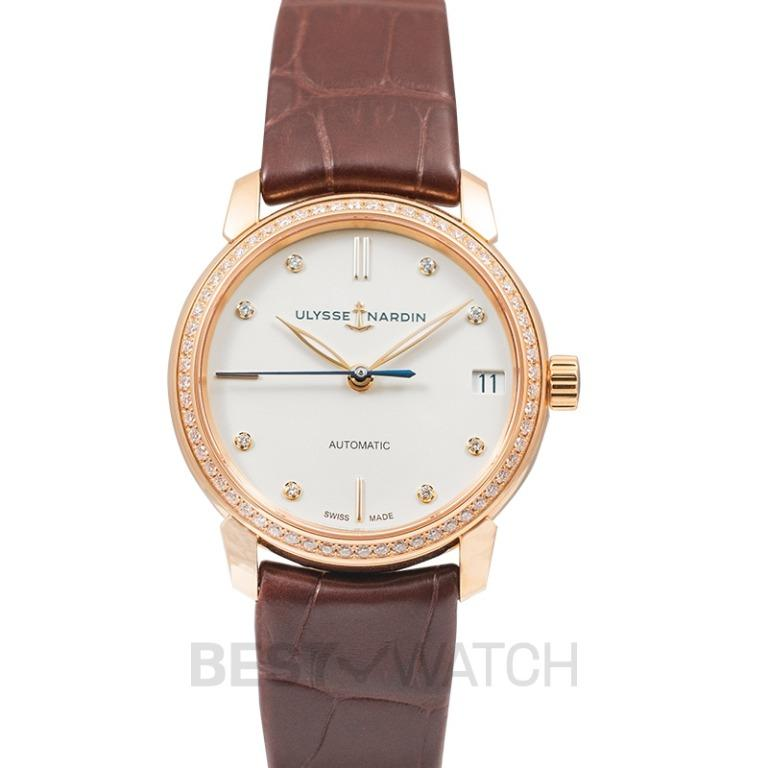 [NEW] Ulysse Nardin Classico Lady Classic 18ct Rose Gold With 60 Diamonds Automatic White Dial Ladies Watch 8106-116B-2/990