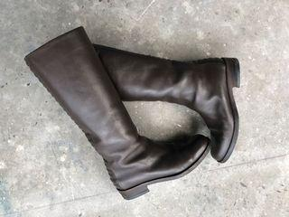 Sante Borella Knee Height Leather Boots US9 Like NEW