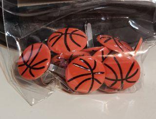 Scrapbooking basketball brads / paper fasteners  (#791 eyelets kids crafts photo)