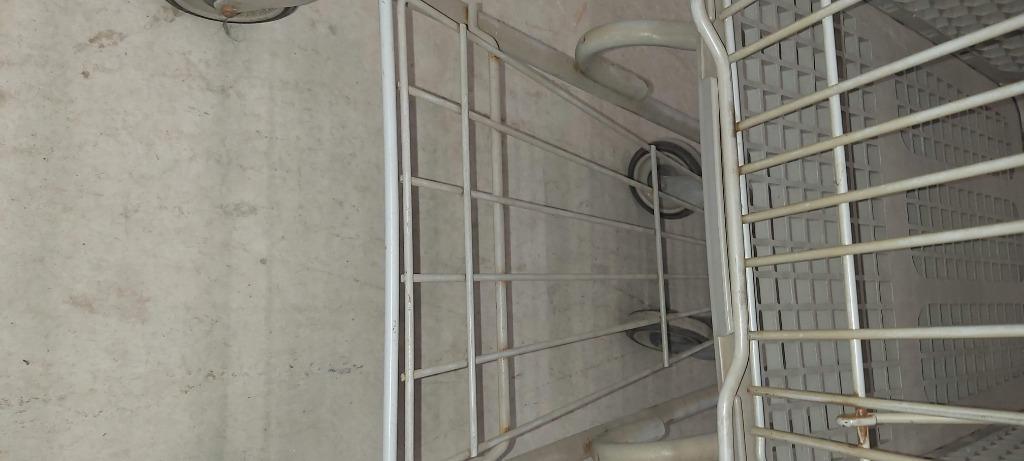 Shopping Carts For stores/warehouses, 2 grey resin, medium, nesting - $60