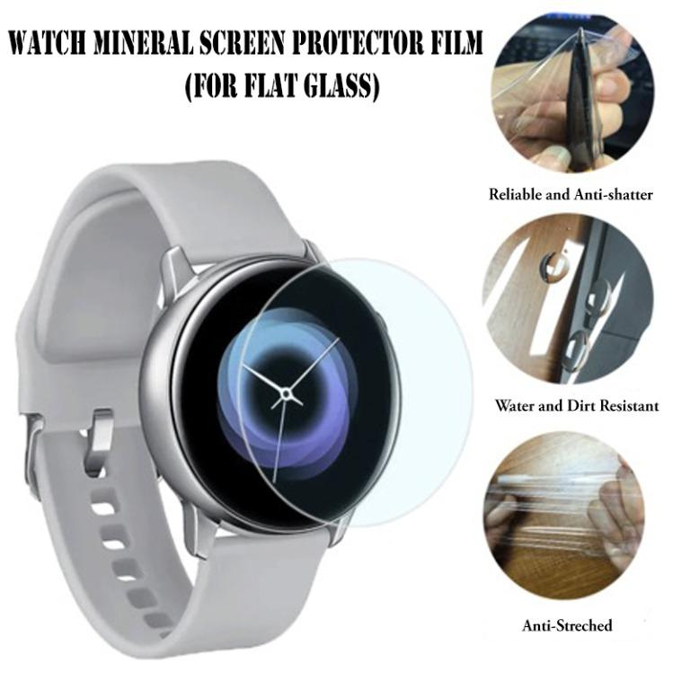2 Pcs of New Universal Round Smart Watch Crystal Clear Screen Protector Film