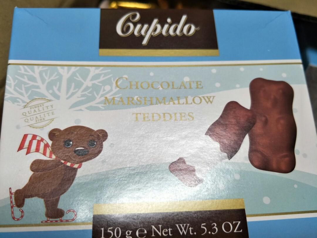 現貨 法國 Cupido 酷比特 小熊棉花糖巧克力