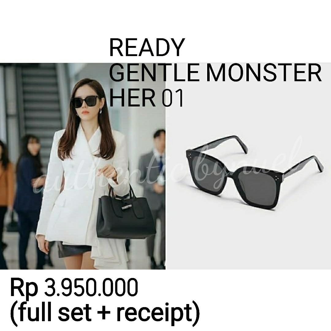 AUTHENTIC FROM KOREA GENTLE MONSTER HER 01 gucci louis vuitton sunglasses dior sunglasses fendi sunglasses coach kate spade marcjacobs fossil original