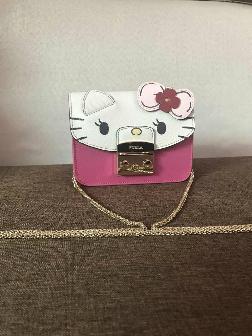 Authentic FurlaLovesHelloKitty FURLA Hello Kittyhello kittykittyFURLAHello Kitty Special lovely wind strikes Th