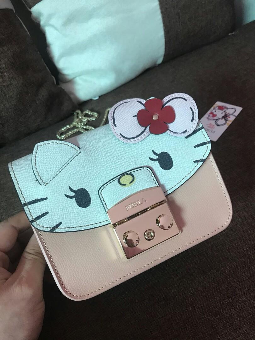 Authentic FurlaLovesHelloKitty FURLA Hello Kittyhello kittykittyFURLAHello Kitty Special lovely wind strikes Th