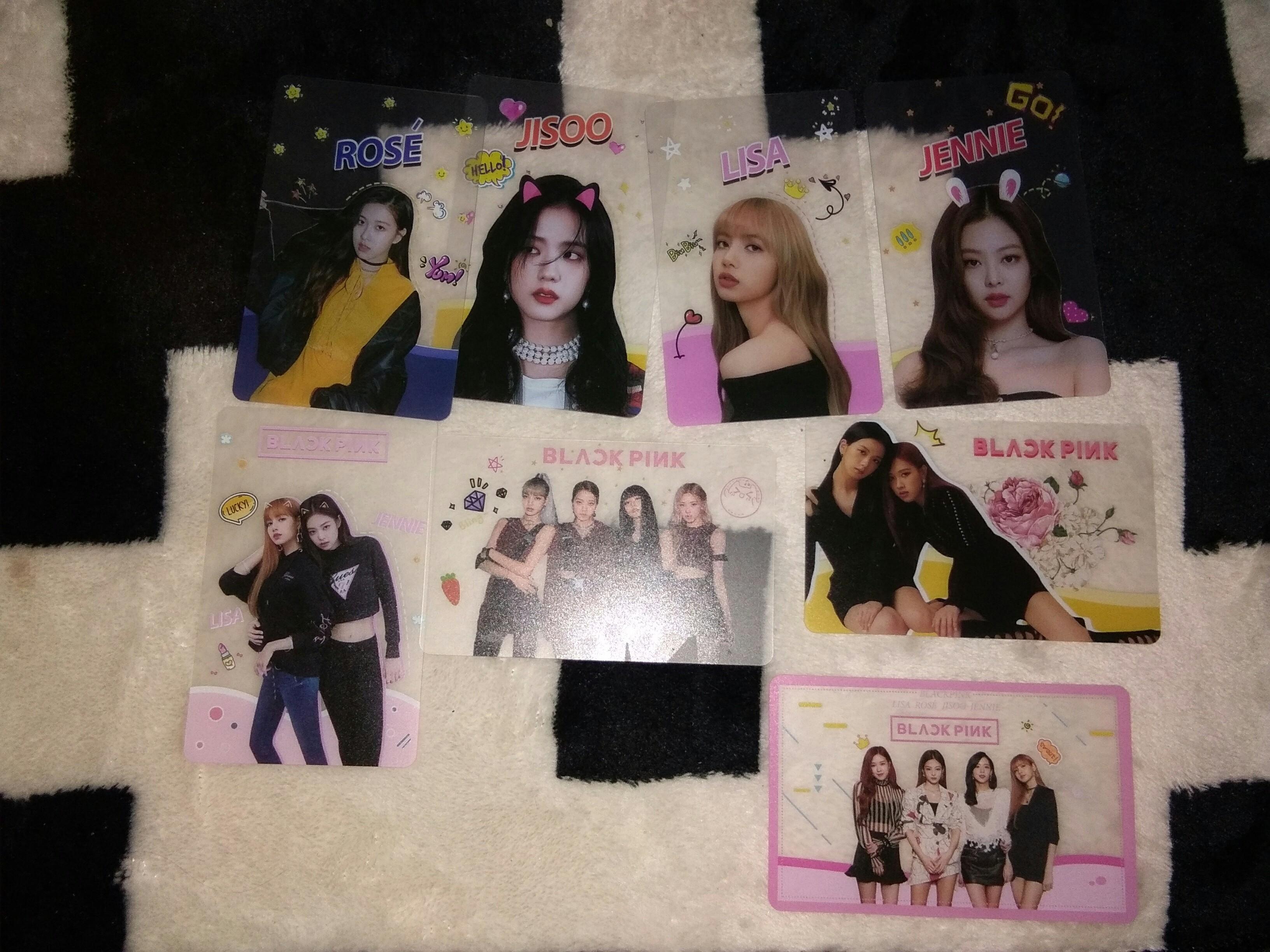 BLACPINK photocard/Blackpink merchandise/ Blackpink bookmark / Blackpink sticker