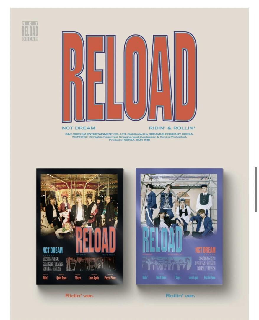 [CHOOSE VER] NCT DREAM MINI ALBUM - RELOAD PREORDER nct NCT