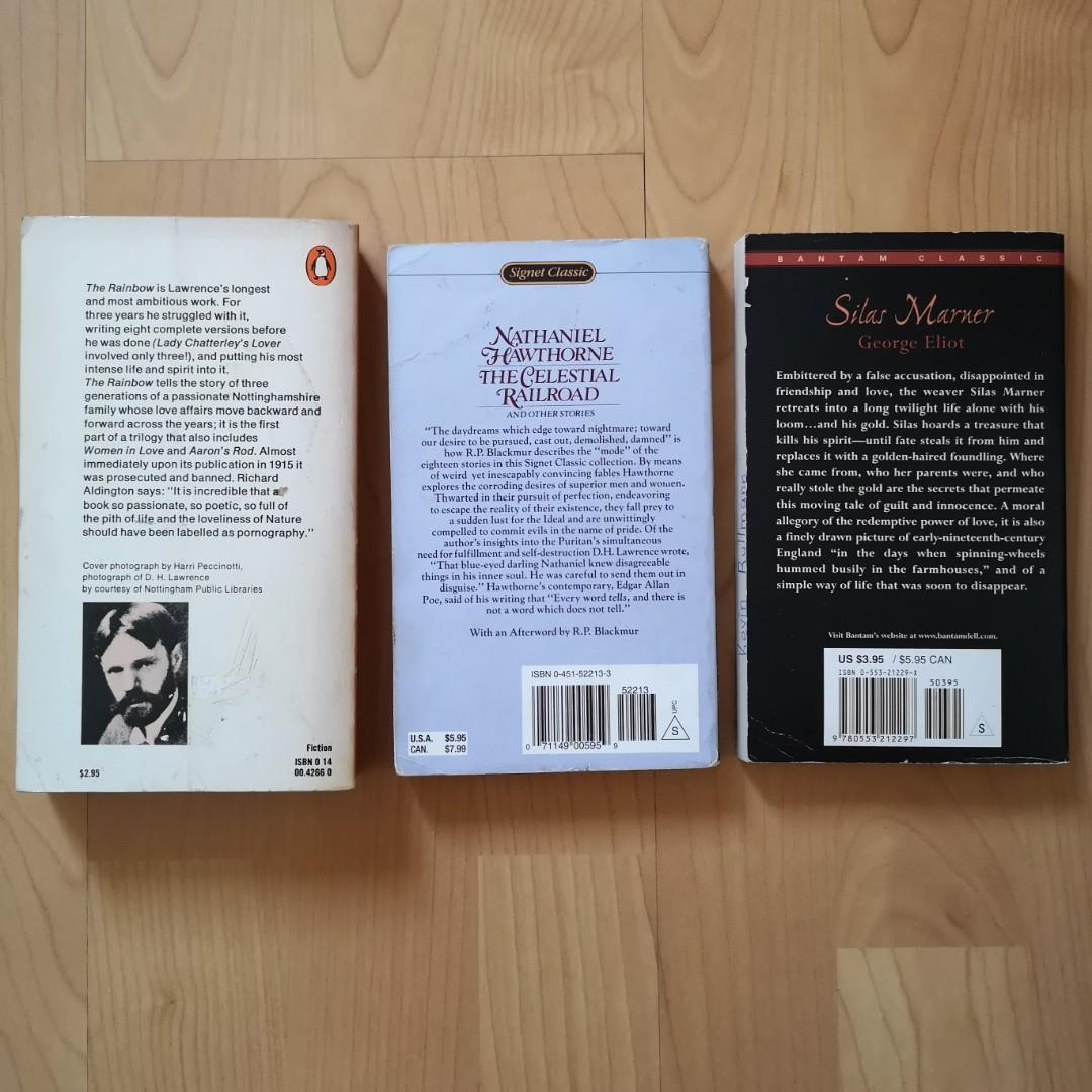 Classic Books: The Rainbow by DH Lawrence The Celestial Railroad by Nathaniel Hawthorne Silas Marner by George Eliot
