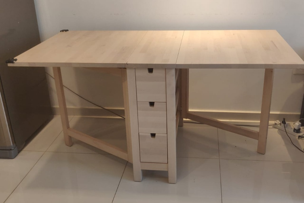 Ikea Foldable Dining Table And Study Table With Storage