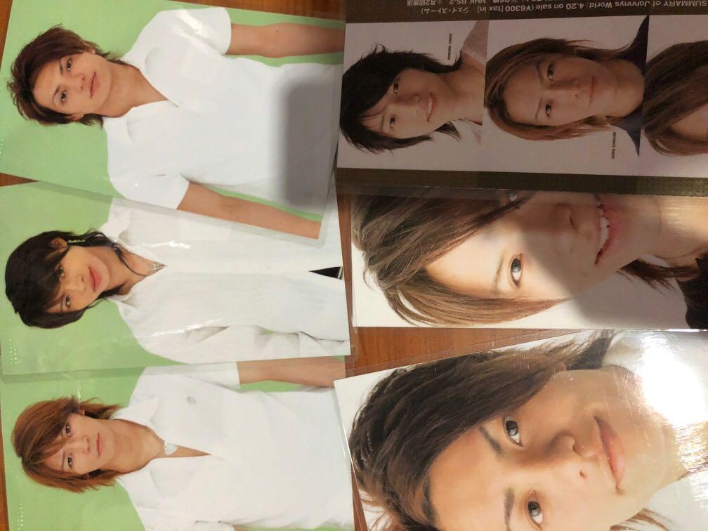 (Johnny's Entertainment) Laminated book sized poster - Ryo Nishikido, Kazuya Kamenashi, etc.