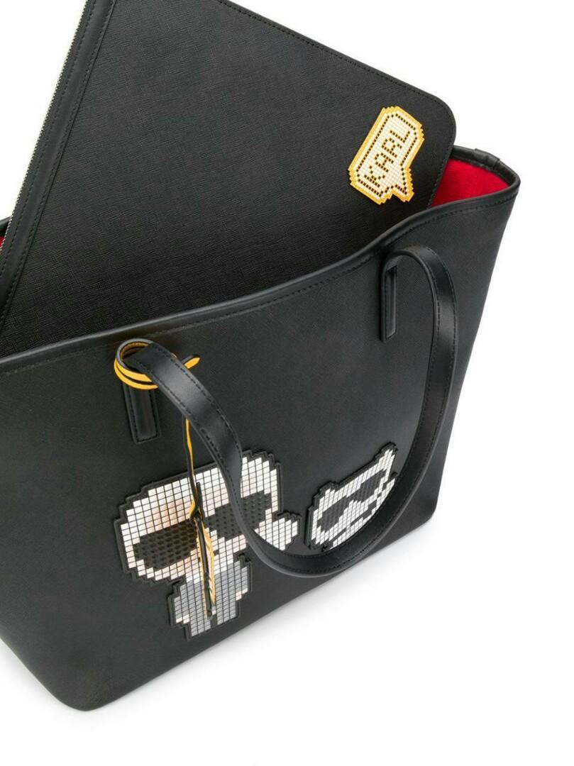 Karl lagerfeld pixel karl choupette tote bag ( leather )  Size : 47cm x 28cm x 15cm