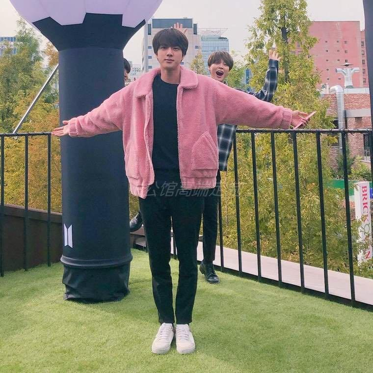 [READY STOCK] UNOFFICIAL House of BTS Pink Fur Jacket