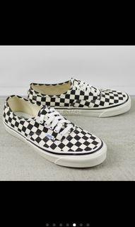 Vans style44 經典棋盤格 頂級款帆布鞋