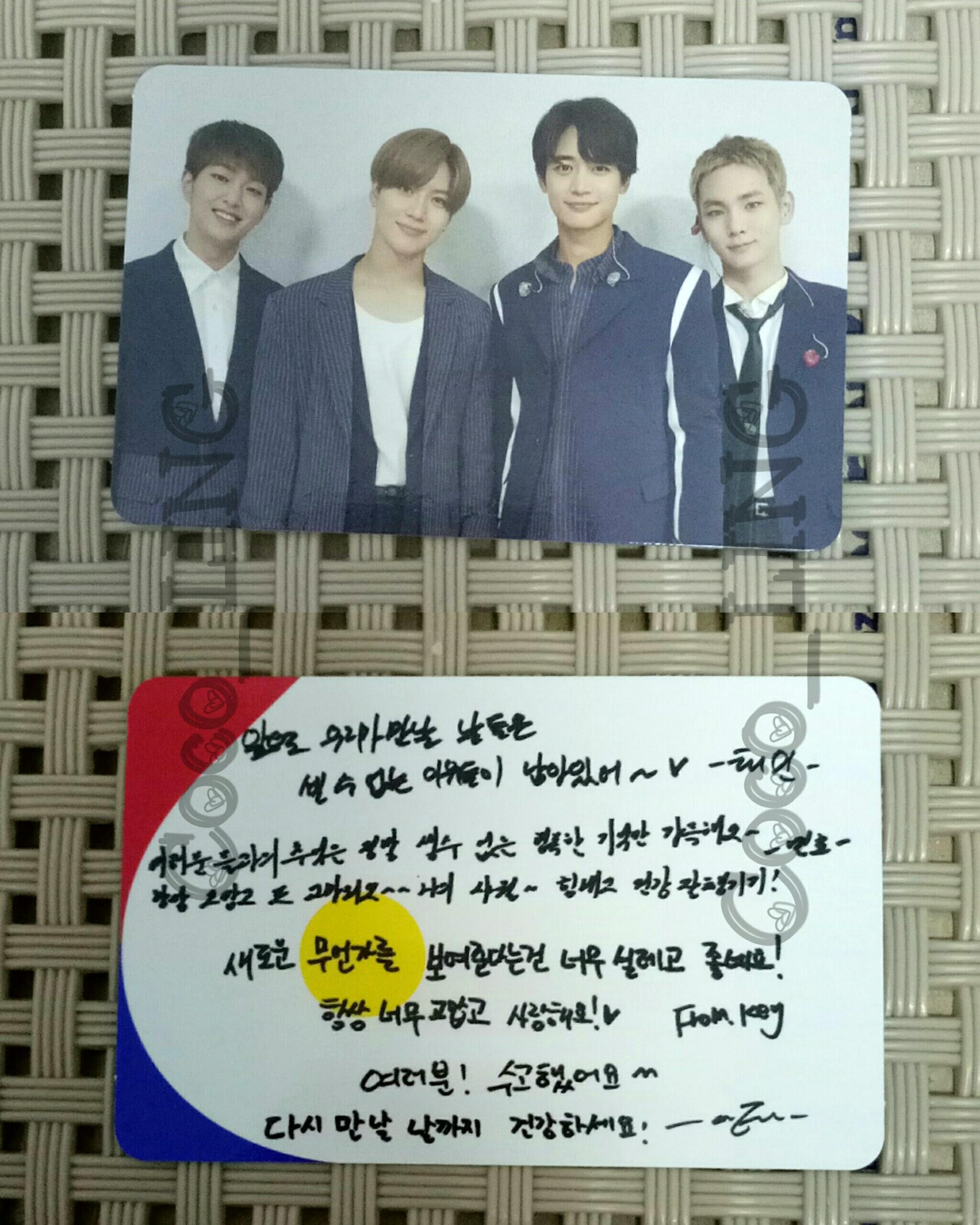 [WTS/WTT]SHINee album group photocard  READY STOCK