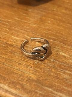 愛心鏤空戒指 可調戒圍