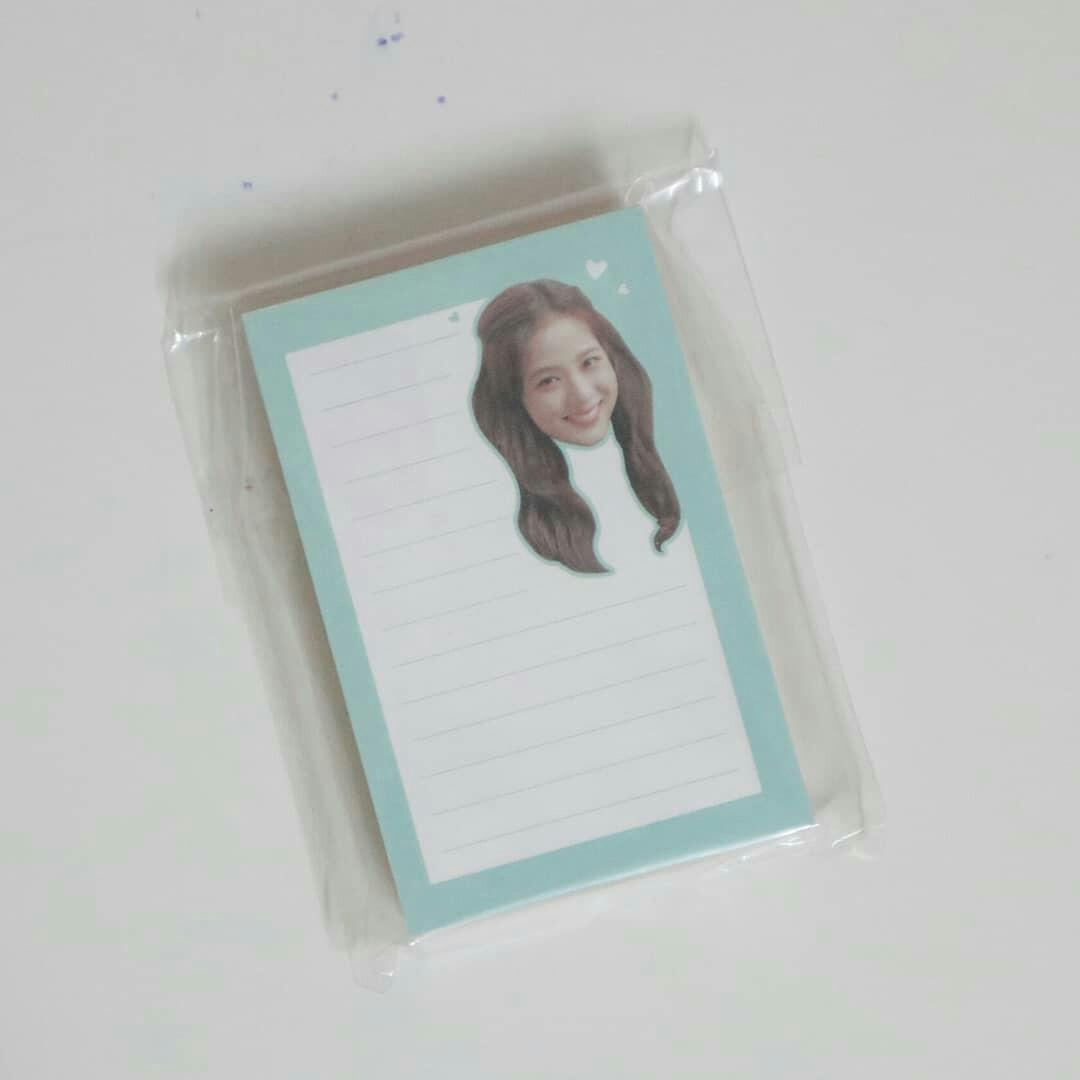 BLACKPINK 2020 WELCOMING COLLECTION LOOSE ITEM CLEAR STICKER SET + MEMO NOTE READY STOCK