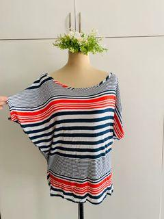 Cotton On Striped Tee in Red white blue