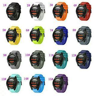 GARMIN 245 , 245music , 235 , 935 , 945 , 645 , fenix 3/5s/5/5x/6s/6/6x , vivoactive 3 , instinct  GARMIN/SAMSUNG/TICWATCH/HUAWEI watch straps replacement 代用錶帶 送工具螺絲批2支
