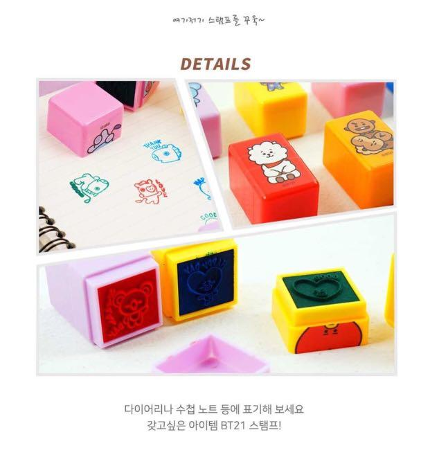 [GROUP ORDER] OFFICIAL LINE FRIENDS x BT21 3 TIER STAMP