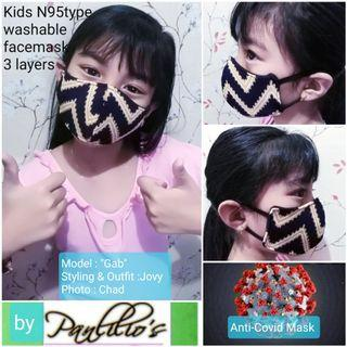 B1T1 KIDs 3Layers N95 Type Unisex Face Printed  Design#055 Assorted prints fits❤all washable REVERSIBLE
