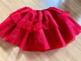 Laila and Lyra Sparkling Red Tutu Skirt