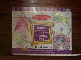 Melissa and Doug jumbo princess and fairy coloring pad