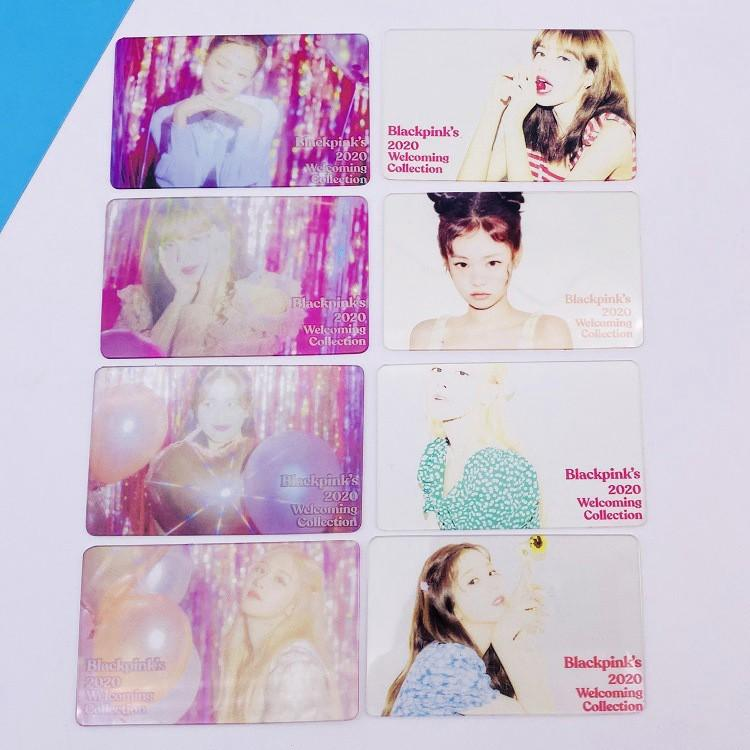 PO 4PCS BLACKPINK WELCOMING COLLECTION TRANSPARENT CARD