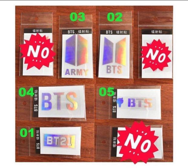 [PREORDER] BTS LASER STICKERS  FOR phone,Laptop,Army Bomb