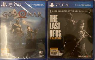 PS4 Games ( God of War / The last of us)
