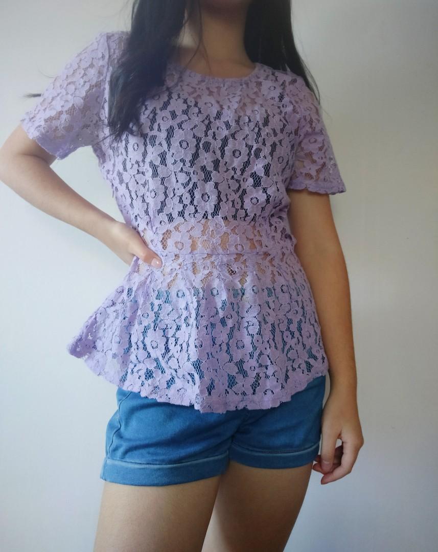 Purple Cotton On Top