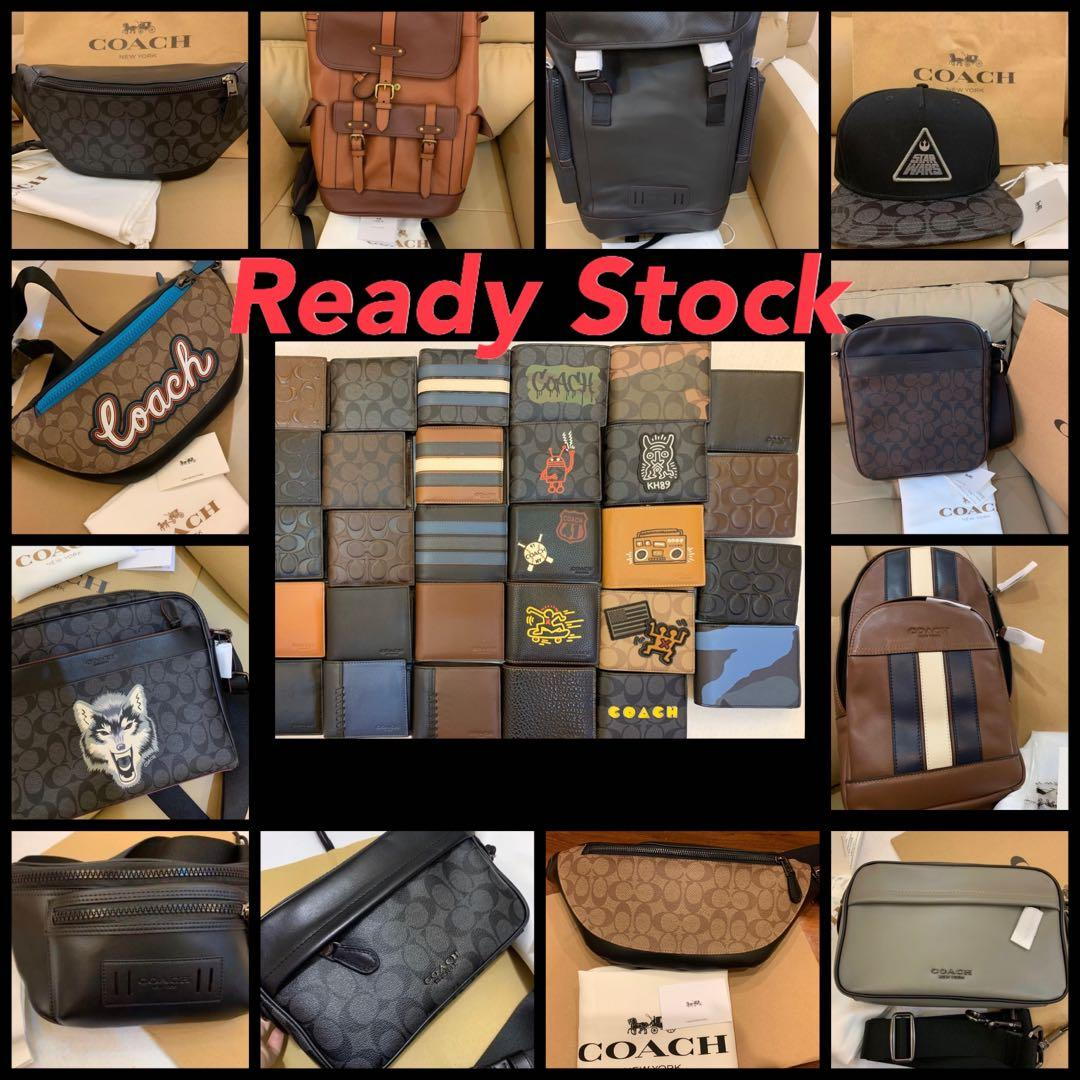 (Raya Promotion)Authentic coach men bag sling bag backpack belt bag crossbody sling bag wallet purse clutch crossbody iPhone pouch lap Tb ah coach innninnn jjnn